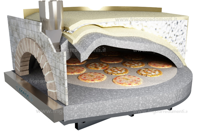 Frigoarredamenti s a s attrezzature for Forno per pizza su fornello a gas